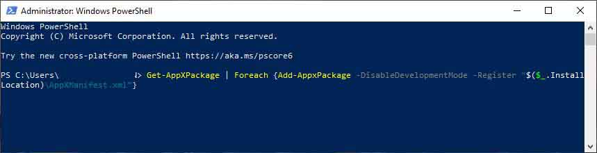 Try Executing the PowerShell Command