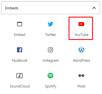 Use Embed for Video