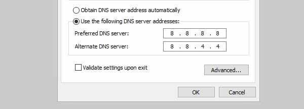 Use Google's Public DNS Server