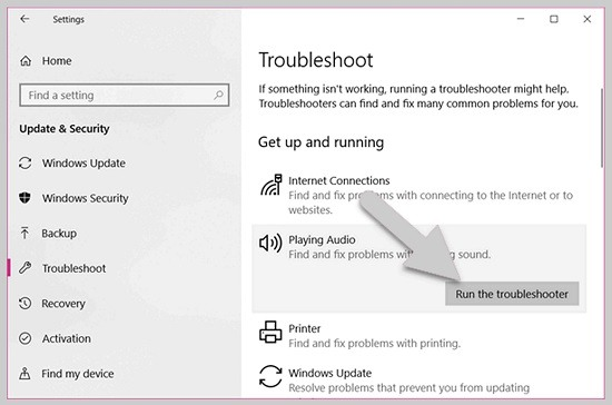 use troubleshooting sound problem