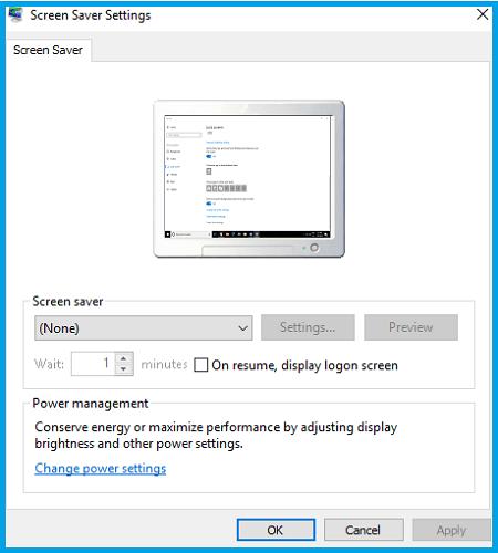 Disable Screen Saver