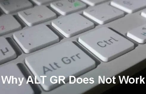 Why ALT GR Does Not Work On Windows 10