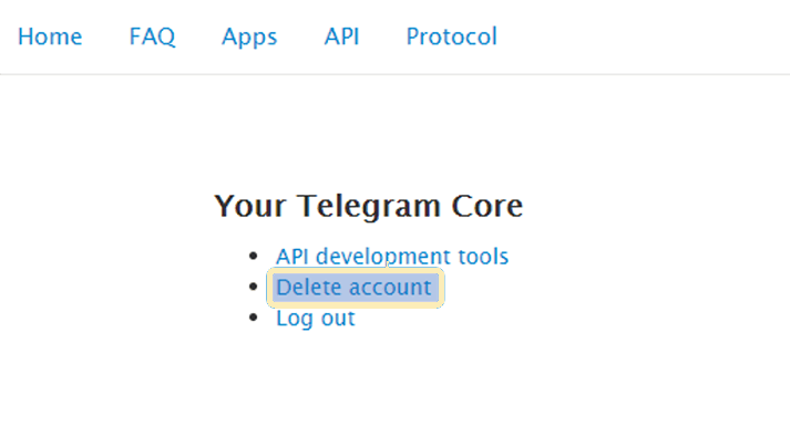 How to Delete Telegram Account Manually