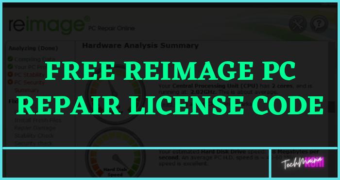 Free Reimage PC Repair License Code