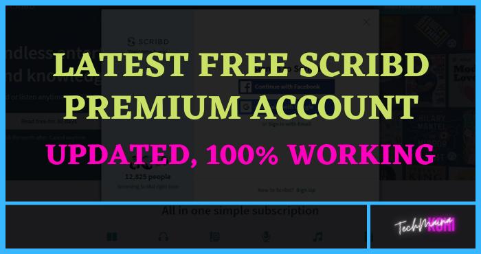 Latest Free Scribd Premium Account