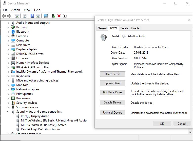 Restore the Original Driver if you Have Installed a New Driver