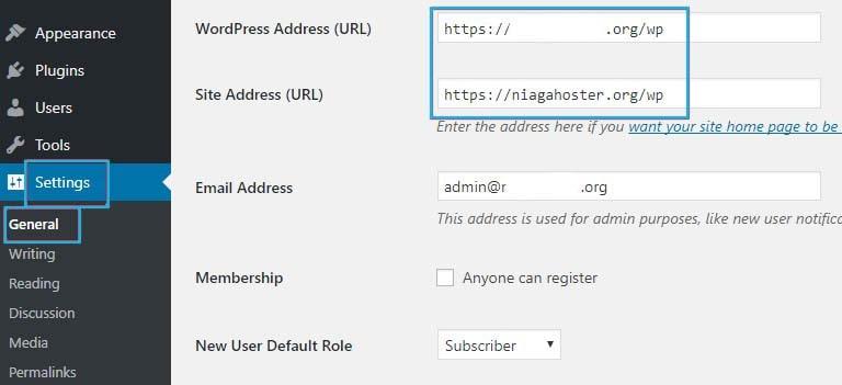 Checking URL Settings Via Dashboard