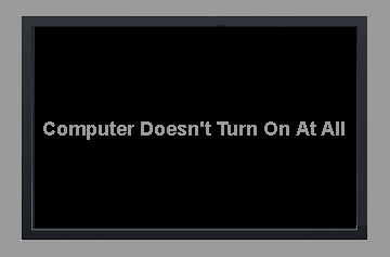 Computer Doesn't Turn On At All