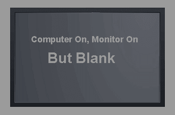 Computer On, Monitor On, But Blank