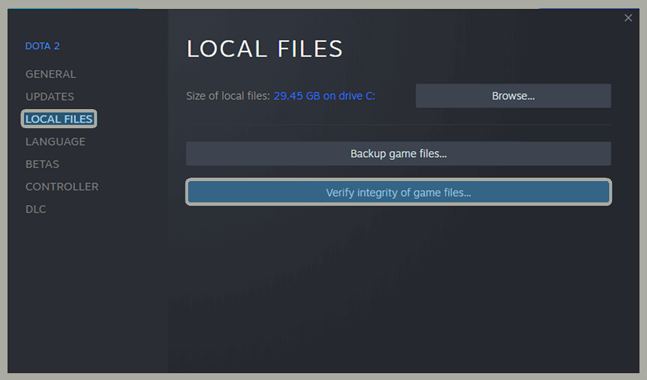 Dota 2 File Reverification