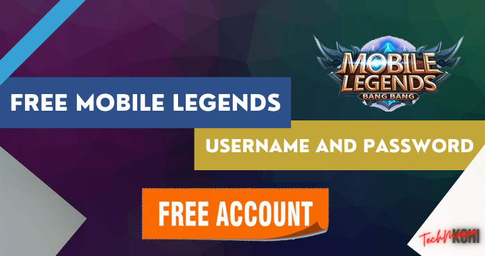 Free Mobile Legends Username And Password