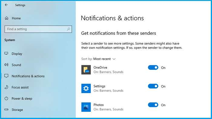 How to Turn Off Windows 10 App Notifications