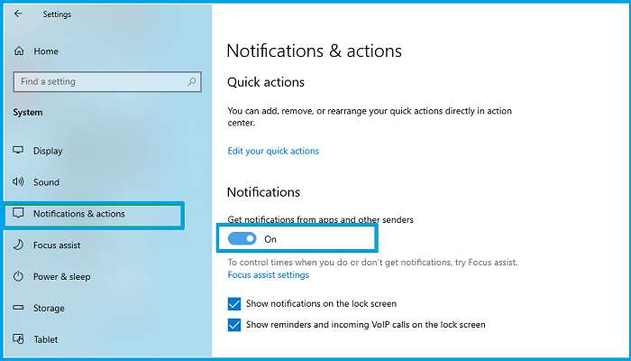 How to Turn off All Windows 10 Notifications