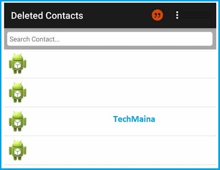 Recover Deleted Contacts with Apps 2