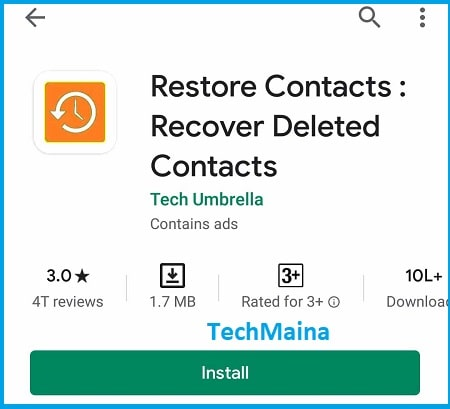Recover Deleted Contacts with Apps