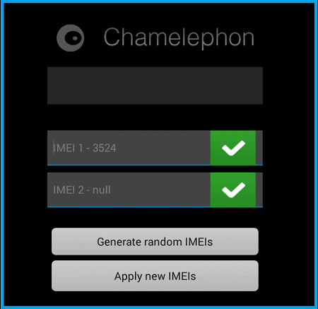 Restore IMEI With Chamelephon App