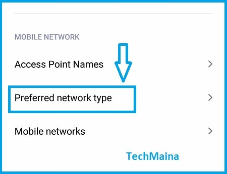Set Network to 3G
