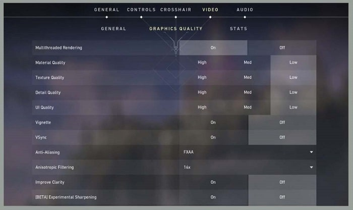 Setting Graphics According to PC or Laptop Specs