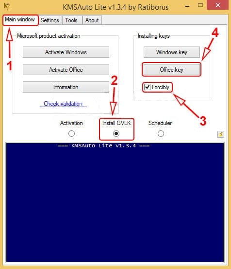 Steps to activate Office 2013 using KMS Auto-Lite