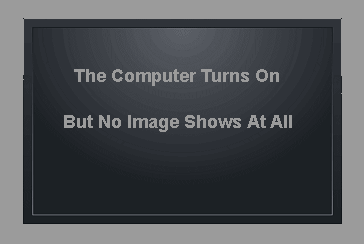 The Computer Turns On, But No Image Shows At All