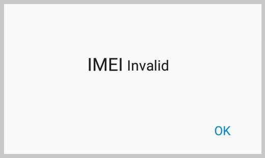 invalid IMEI