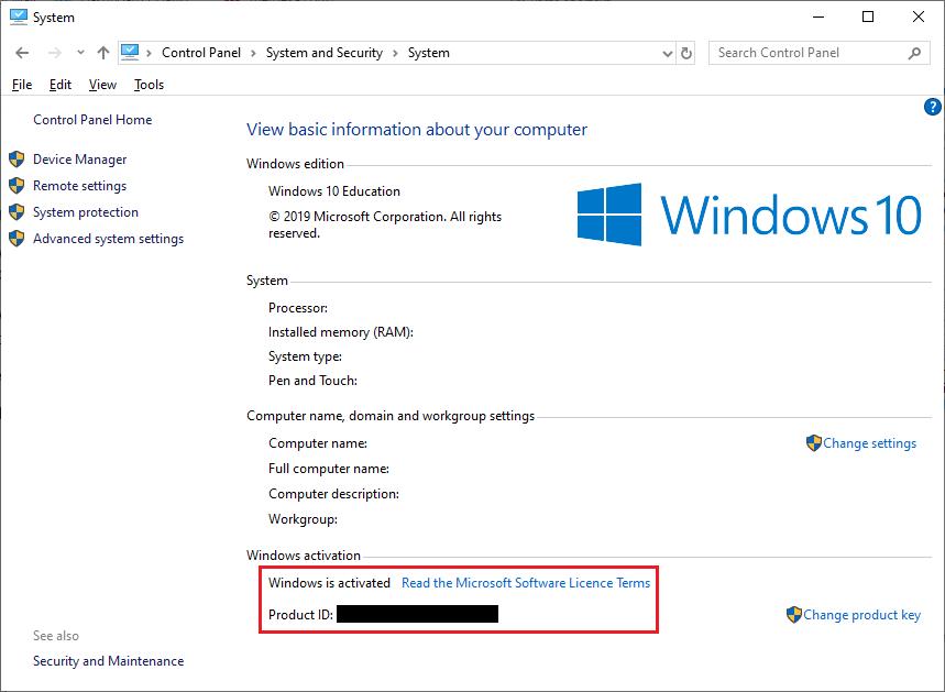Checking Genuine Windows 10 Not Through Control Panel
