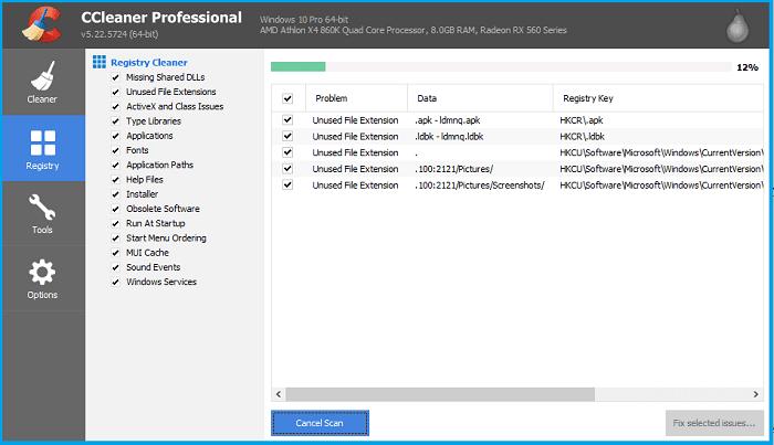 Clean Windows Registry