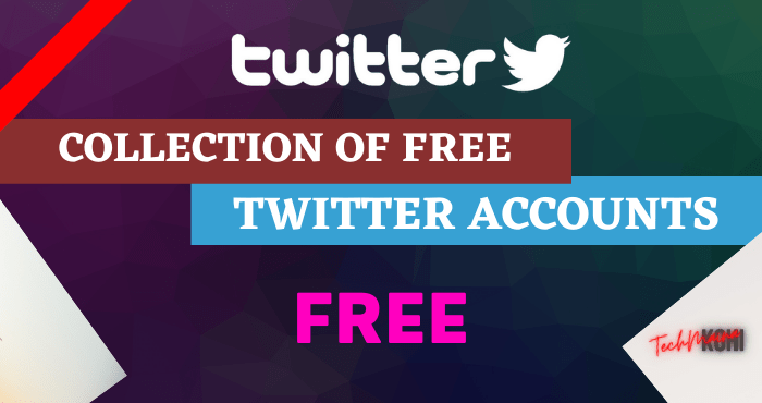 Collection of Free Twitter Accounts and Passwords
