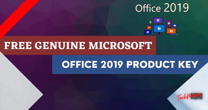 Free Microsoft Office 2019 Product Key