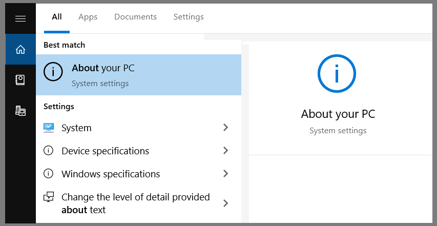 How to Check Windows 10 Version Through the About Menu