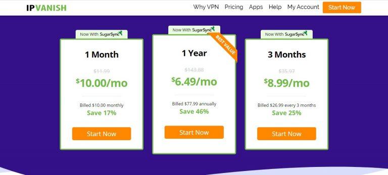 IPVanish VPN pricing and premium plans