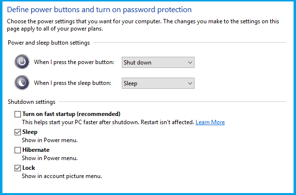 Turning Off the Hybrid Shutdown Feature