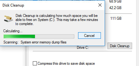 Delete Junk Files with Disk Cleanup