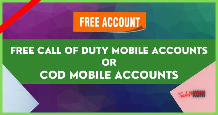 Free Call of Duty Mobile Accounts